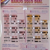 banjo solo scales and notes chart