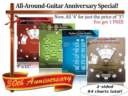 Music Dials guitar 4-pack special